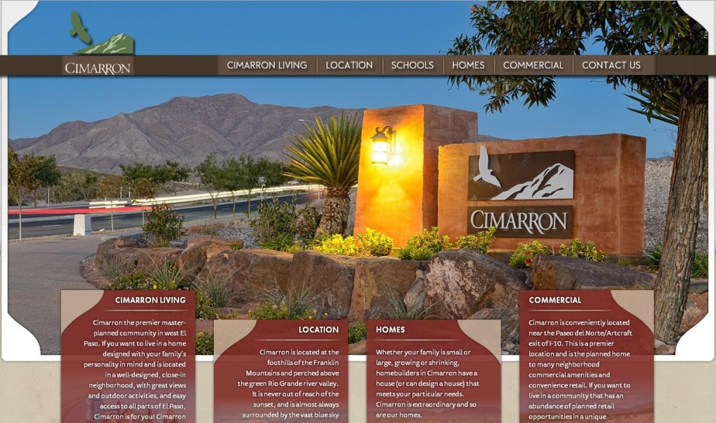 liveatcimmarron.com website by Stanton Street - website screenshot