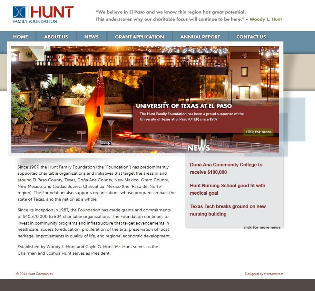 Hunt-Homepage