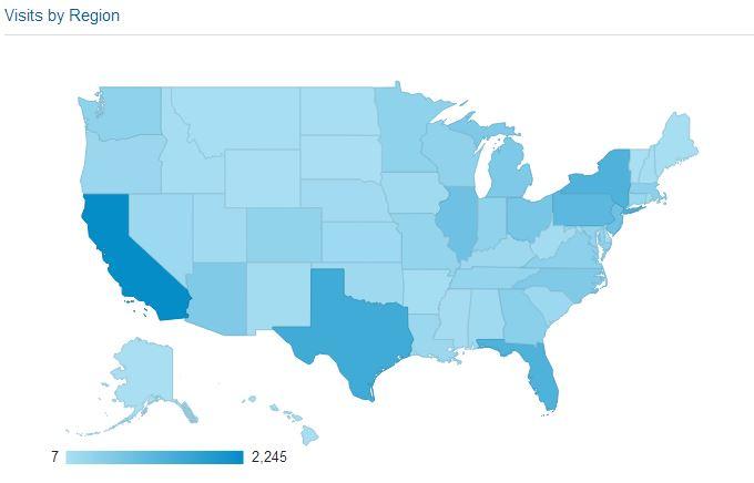 Monthly Snapshot Website Traffic Map