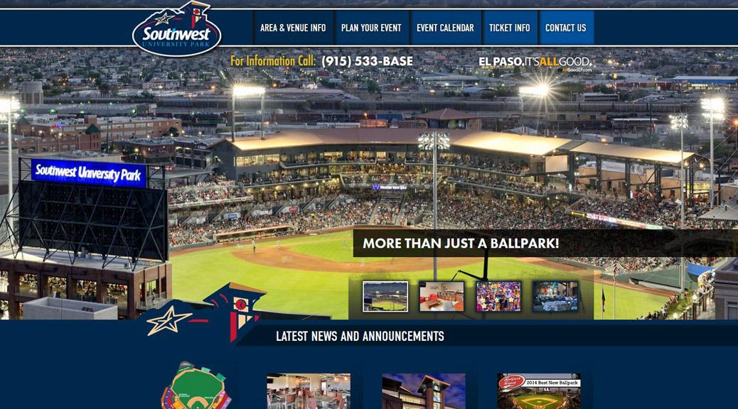 southwestuniversitypark.com homepage screenshot